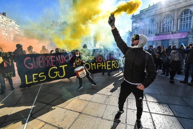Les gilets jaunes à Montpellier ce samedi