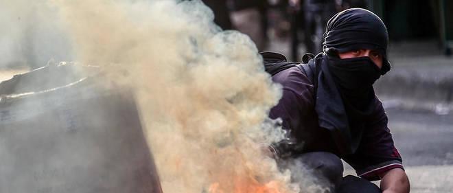 manifestant au Chili