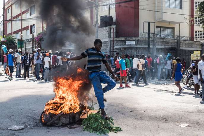 Manifestation à Port-au-Prince le 30 octobre