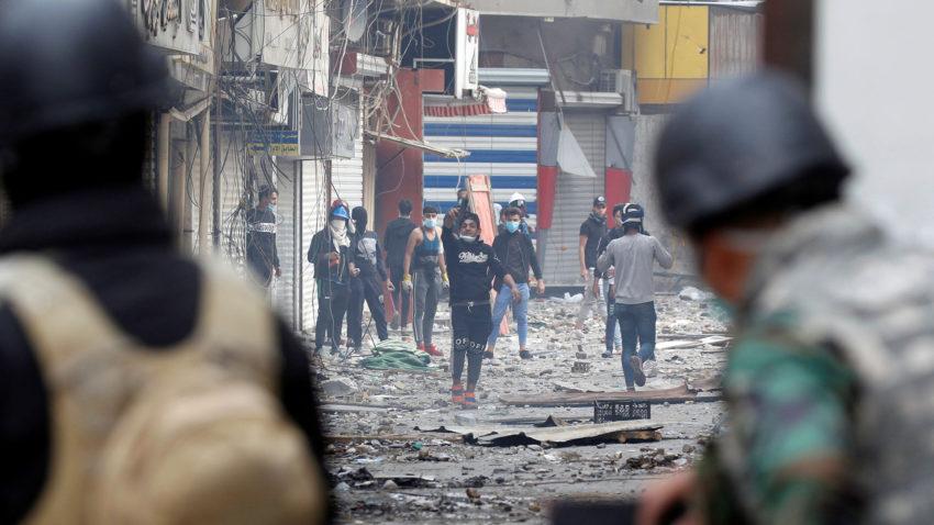 Manifestant·es à Bagdad (archive)