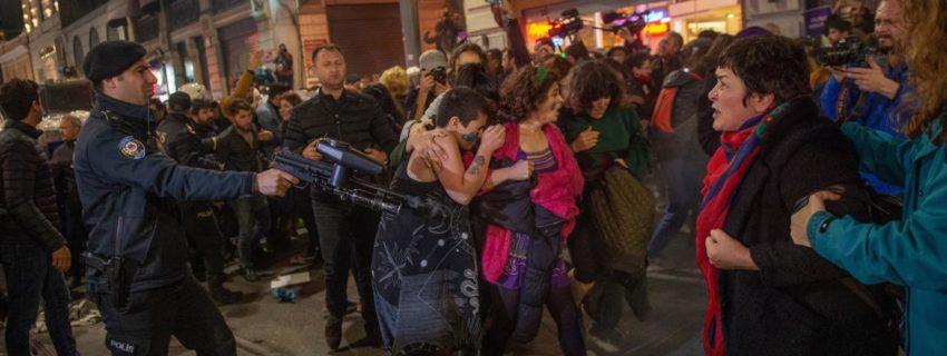 La répression de la manifestation de lundi