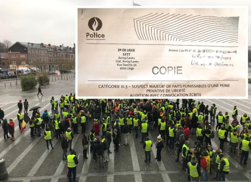 Plusieurs Gilets Jaunes de Liège convoqué·es par la police