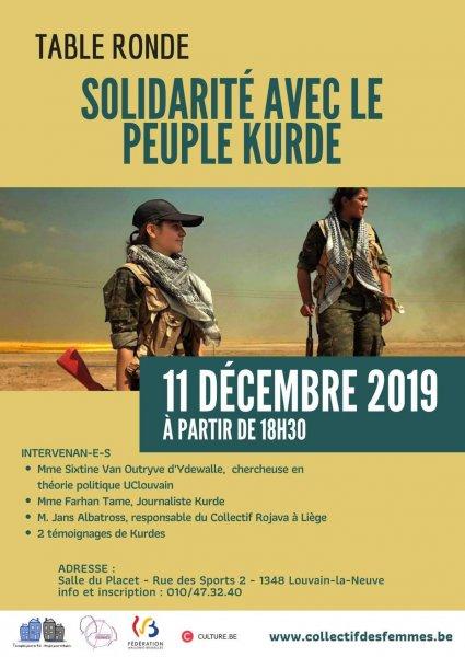 Table ronde en solidarité avec le peuple kurde