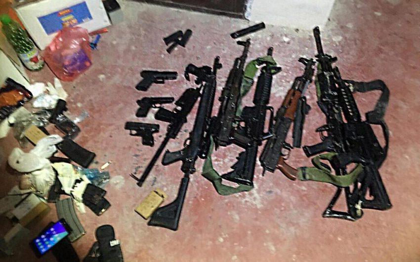 Armes saisies par les forces de sécurité israéliennes