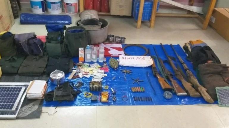Un partie du matériel saisi par les forces de sécurité
