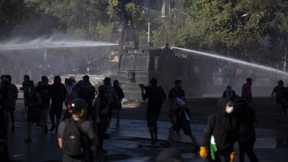 Les affrontements d'hier au Chili