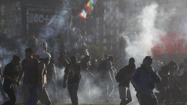 Les affrontrements de vendredi à Santiago