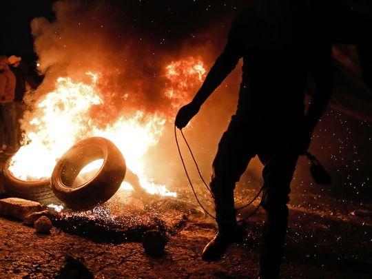 Les affrontements à Ramallah