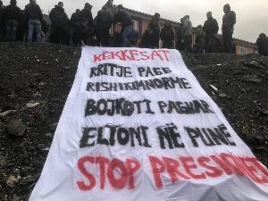 Les mineurs du chrome en lutte en Albanie