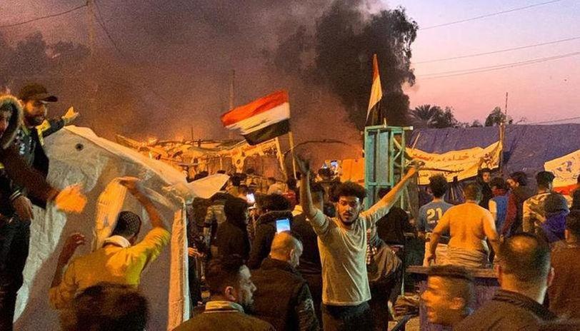 Les affrontements de Bagdad ce dimanche