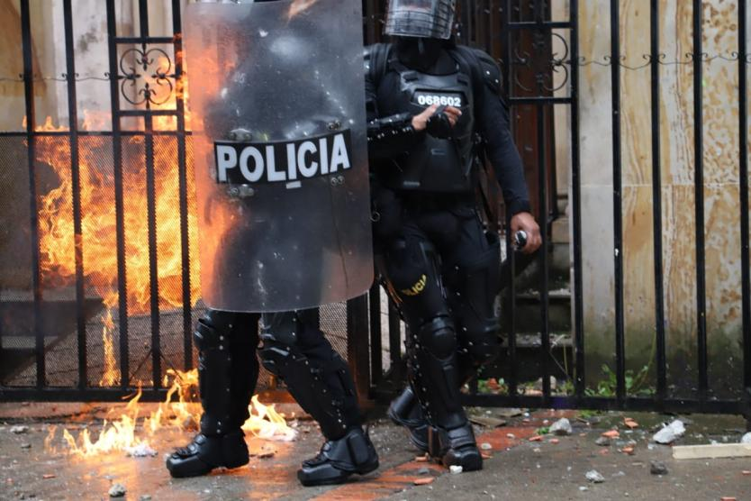 Affrontements à Bogota