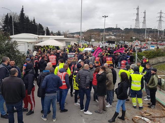 La grève à la centrale de Gardanne