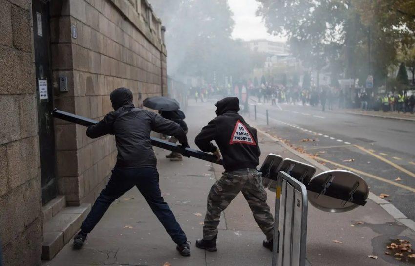 Les affrontements du 16 novembre à Nantes