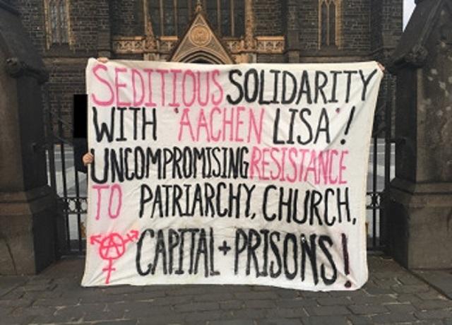 Banderole de solidarité avec Lisa