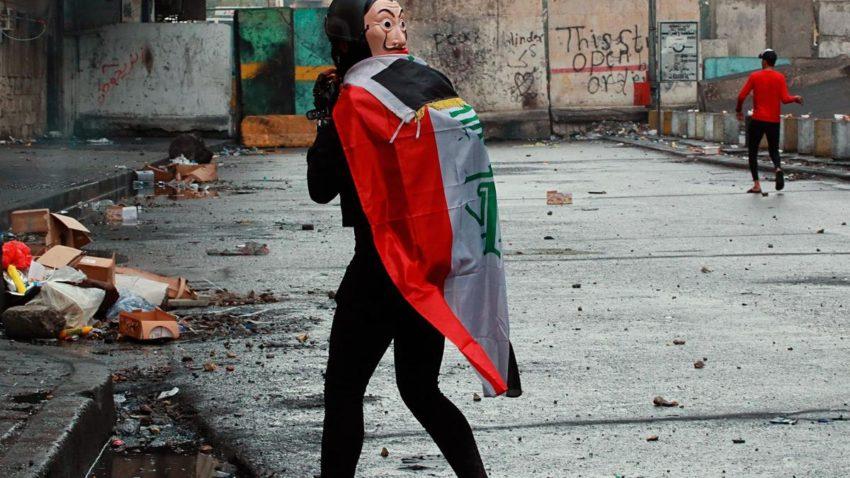 Manifestant à Bagdad