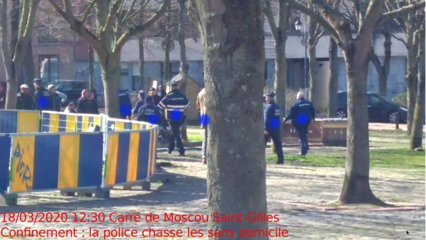 La police chassant les SDF du Carré de Moscou