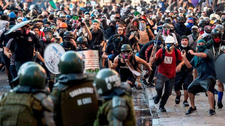 Les affrontements au Chili