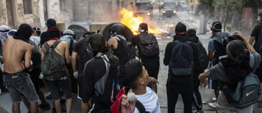 Affrontements à Santiago du Chili