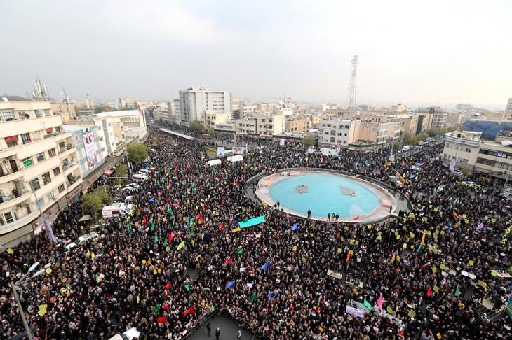 Manbifestation en novembre 2019 en Iran