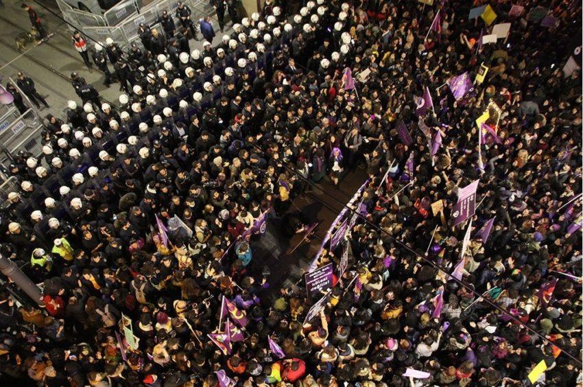 Manifestation du 8 mars 2020 à Istanbul