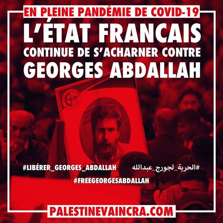 Campagne pour la libération de Georges Abdallah en période de pandémie du Coronavirus