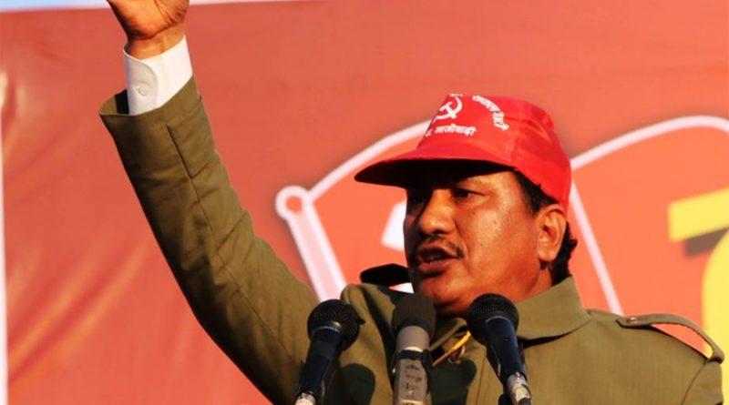 Netra Bikram Chand, dirigeant du Parti Communiste du Népal (maoïste) clandestin