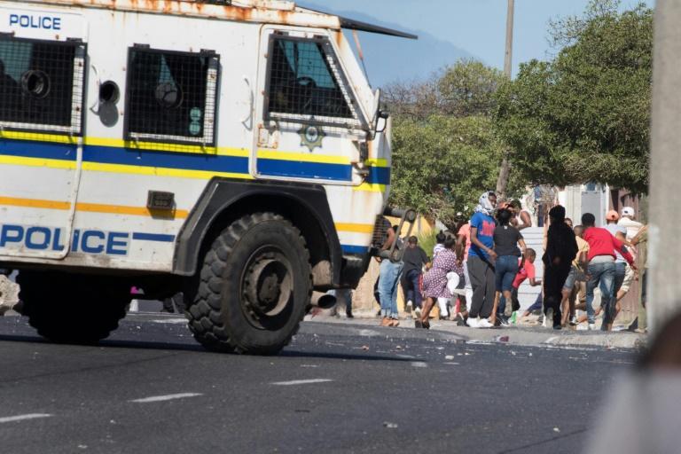 Les affrontements à Cape Town