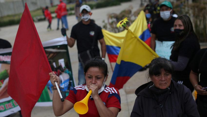 Les manifestations à Bogota
