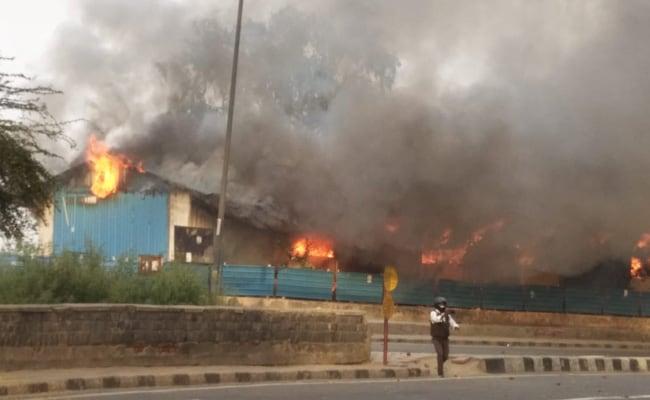 L'incendie du refuge à Dehli