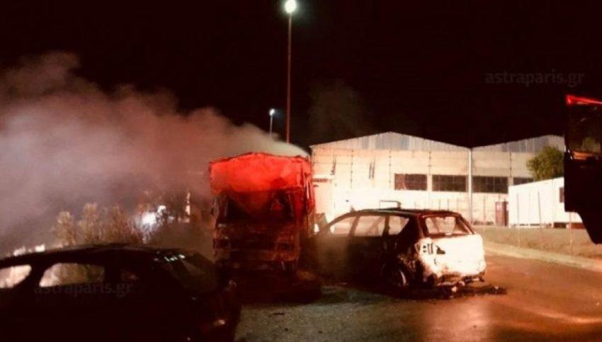L'incendie au camp de Chios