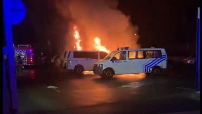 L'incendie à Arlon