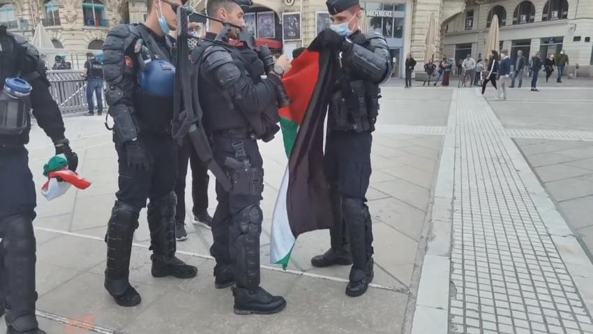 La police confisque des drapeaux palestiniens à Montpellier