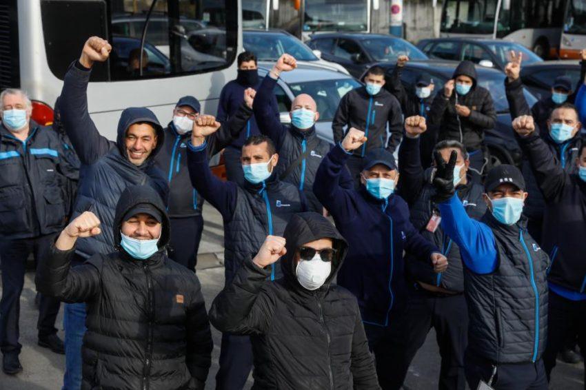 Le personnel de la STIB en grève contre le déconfinement prématuré