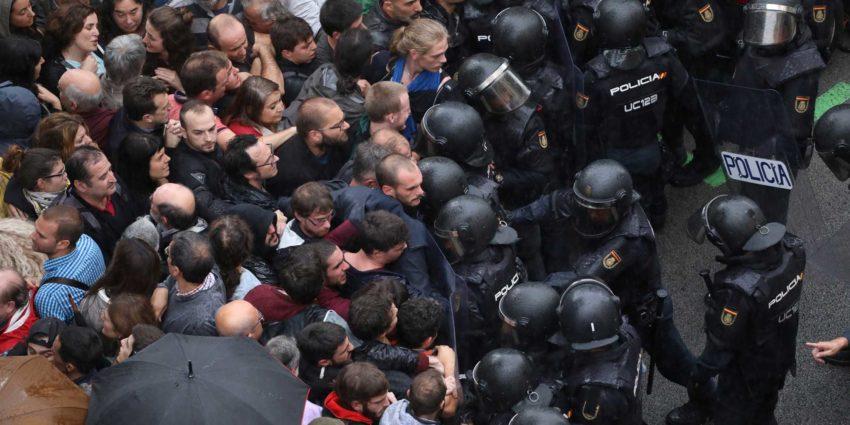 Répression du référendum d'indépendance catalan (archive)