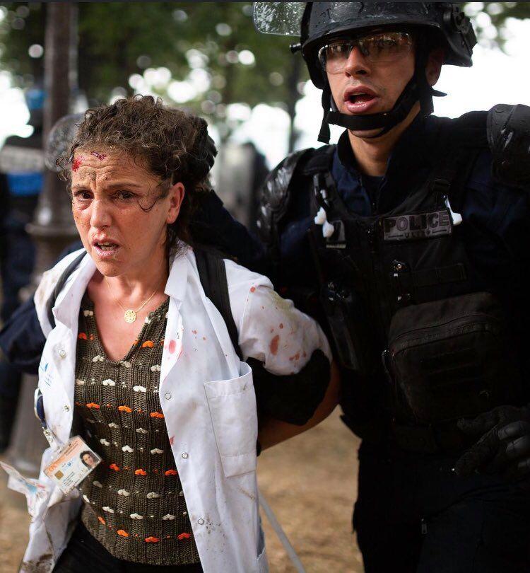 Une infirmière arrêtée durant la manifestation