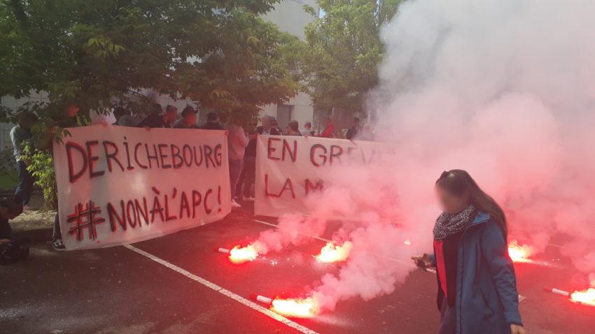 Vendredi 12 juin, rassemblement devant le siège de Derichebourg à Toulouse.