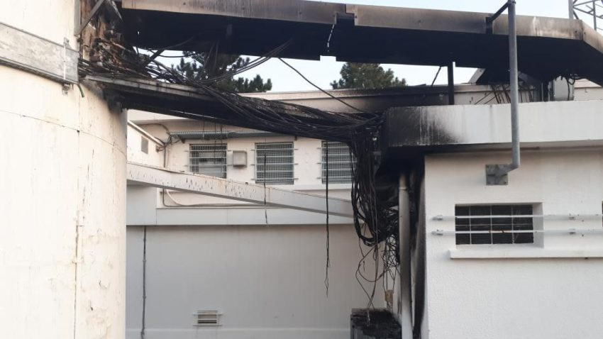 Le relais TDF incendié