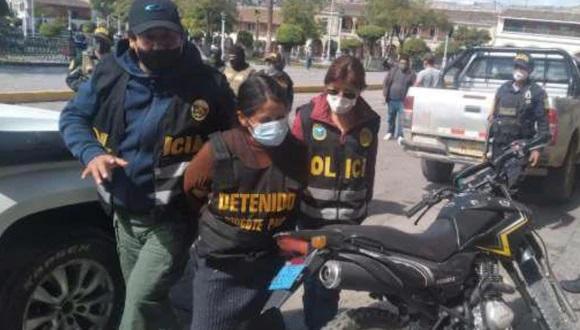 Arrestation de Paulina Pinco Huamán