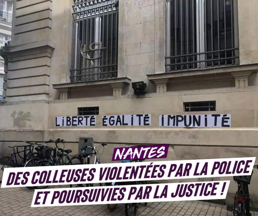 Des colleuses d'affiche féministes violentées par la police et poursuivie au tribunal