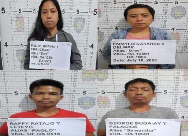 Les quatre maoïstes capturés