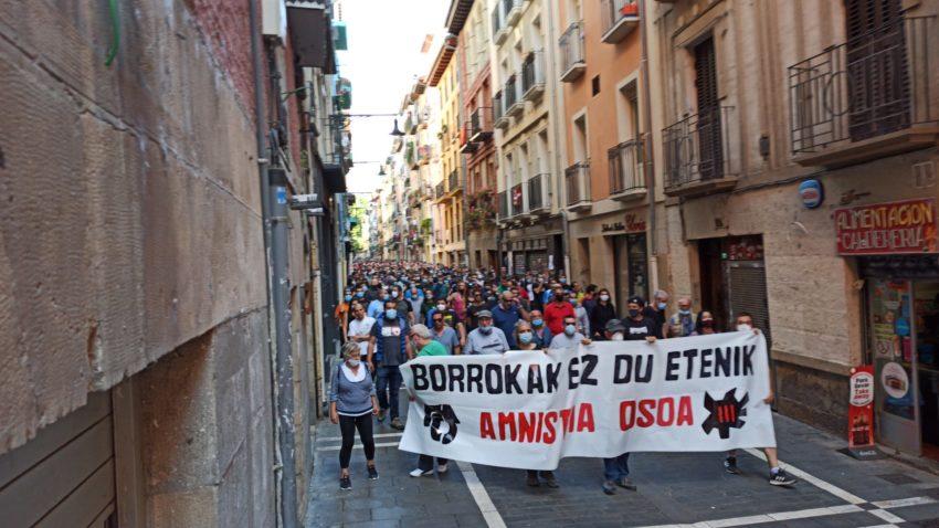Manifestation du Mouvement Pro-Amnistie et Contre la Répression