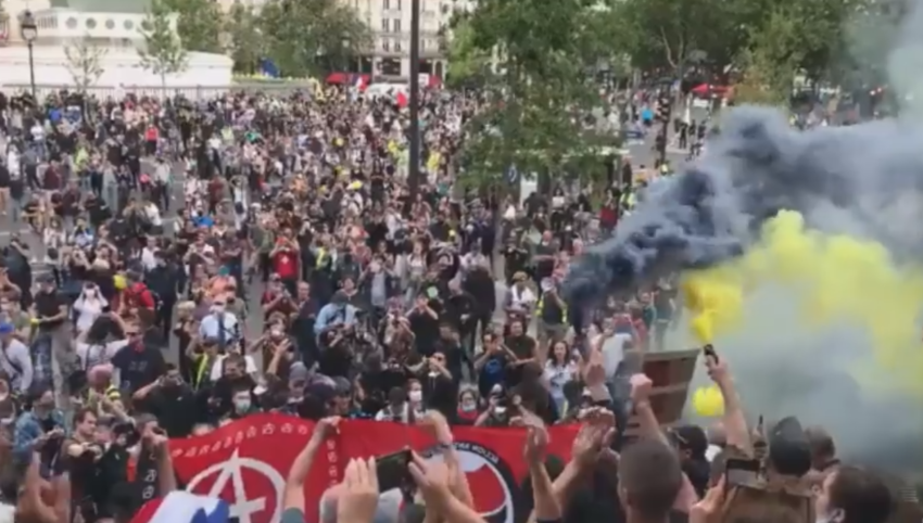 Manifestations, affrontements et arrestations à l'occasion du 14 juillet à Paris