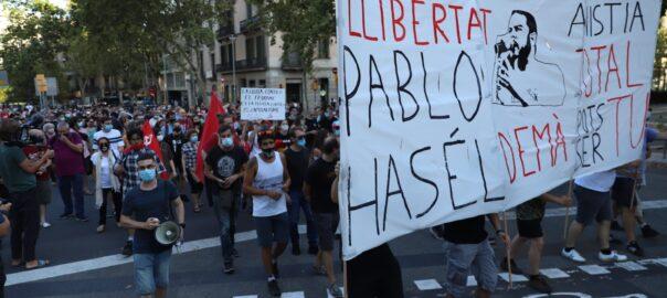 Rassemblements de soutien à Pablo Hasél dans plusieurs villes