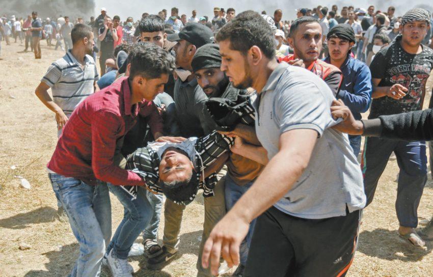 Manifestant abattu lors d'une Marche pour le retour (archives)