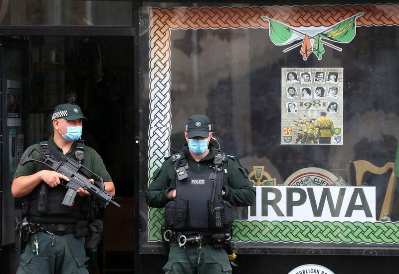 La pPerquisition au local de Saoradh à Belfast