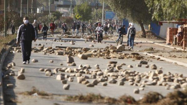 Grèves et blocages en Bolivie