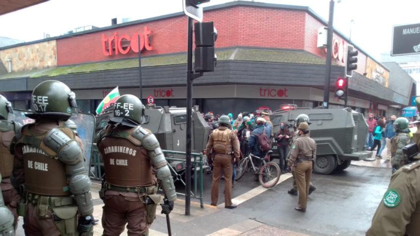 Affrontements à Temuco