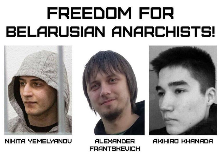 Les anarchistes emprisonnés en Biélorussie