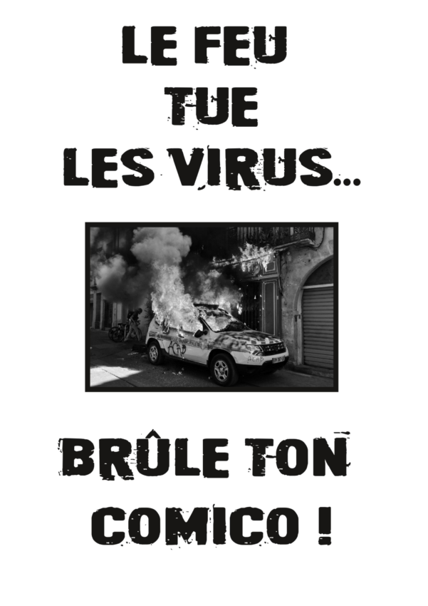 Une des affiches collées par les 7 militant·e·s