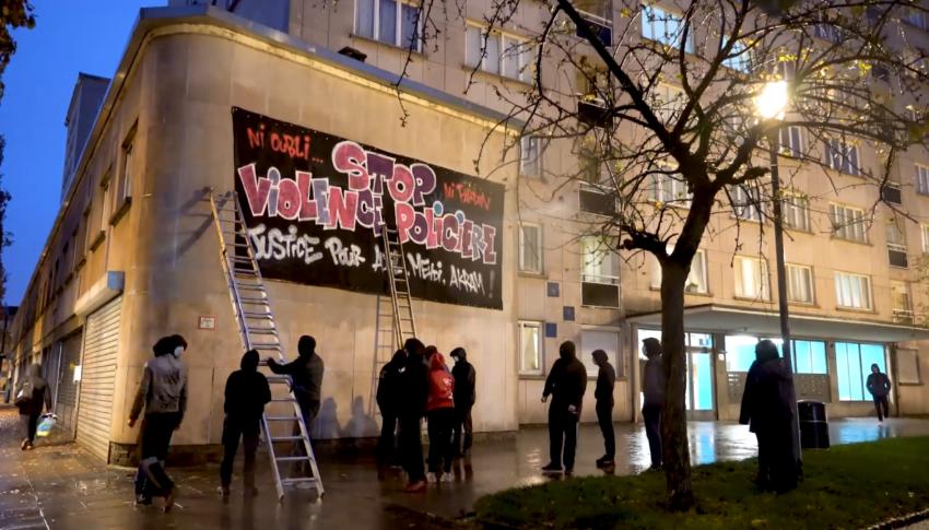 Action contre les violences et meurtres policiers à Bruxelles